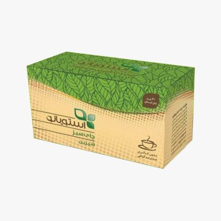تصویر چای سبز رژیمی شیرین شده با گیاه استویا