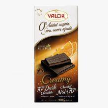 تصویر شکلات تلخ با موس پرتقال والور شیرین شده با استویا