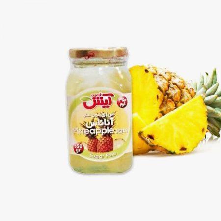تصویر مربای بدون شکر آناناس شیرین شده با استویا