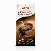 تصویر شکلات شیری با موس فندق والور شیرین شده با استویا